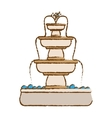 classical fountain icon image vector image