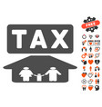family tax pressure icon with dating bonus vector image