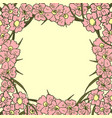 greeting card floral background poster frame vector image