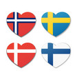 icons of scandinavian flags vector image