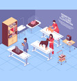 isometric veterinary composition vector image