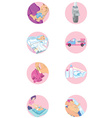 Set of baby and family icons vector image