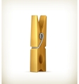Wooden clothespin vector image