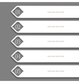 Modern white Design template vector image