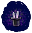 Magic hat with bunny ears vector image