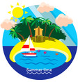 summertime vacation vector image