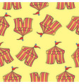 background tent circus pattern style vector image