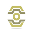 Logo Abstract Symbol Hexa Connecting Icon Element vector image