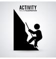 Pictogram doing activity design vector image