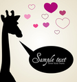 Giraffe in love vector image vector image