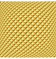 Golden textured background vector image vector image
