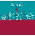Wine elements set vector image