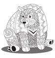 bear coloring vector image vector image
