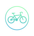 bicycle icon in circle on white cycling symbol vector image