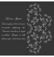 Black and white card design with ornate flower vector image