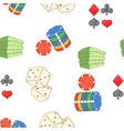 Casino pattern cartoon style vector image