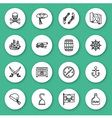 Set of line icon Pirate vector image