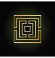 Gold thin line labyrinth icon vector image