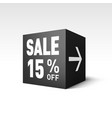 black cube banner template for holiday sale event vector image vector image