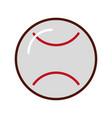 brightly baseball cartoon vector image