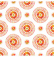 autumn pattern retro floral circles texture vector image