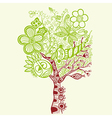 Surreal abstract tree art vector image