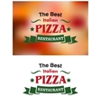 Italian pizza restaurant banners and labels vector image vector image