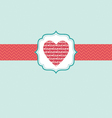 love in heart ornate frame vector image