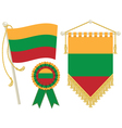 lithuania flags vector image vector image