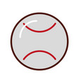 brightly baseball cartoon vector image