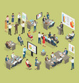 business coaching collection in office vector image
