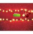 Christmas Banner with Fairylights vector image