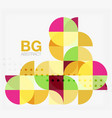 colorful circle elements vector image
