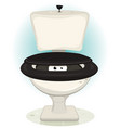 funny creatures eyes inside water toilet vector image