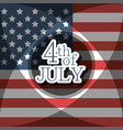 independence day with flag decoration design vector image