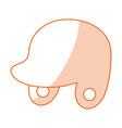 monocromatic helmet design vector image