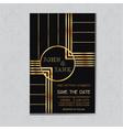 Wedding Invitation Card in Art Deco Design vector image