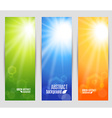 colors set banners of shine vector image