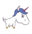 cute unicorn drawn icon vector image