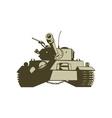 Army Tank Retro vector image