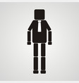 office worker businessman leadership square vector image