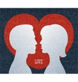 Love couple silhouettes vector image