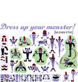 dressupmonster vector image vector image