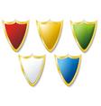 shield five vector image vector image
