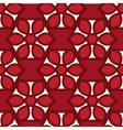 Floral seamless pattern red color vector image