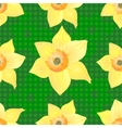 Daffodils on a Beautiful Green Background vector image vector image