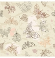 Butterflies seamless background vector image