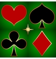 abstract of game cards suits vector image