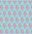 cute pink santa claus christmas seamless pattern vector image