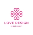 Love heart sign design template logo flat style vector image